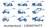 truck wash systems. deep... | Shutterstock .eps vector #1304074477