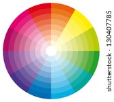 color wheel with shade of