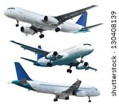 real jet planes  isolated on...   Shutterstock . vector #130408139