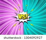 comic versus colorful template... | Shutterstock .eps vector #1304092927