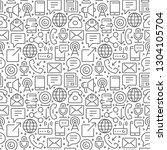 communication seamless pattern...   Shutterstock .eps vector #1304105704