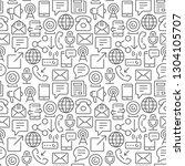 communication seamless pattern...   Shutterstock .eps vector #1304105707