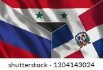 russia and syria and dominican... | Shutterstock . vector #1304143024