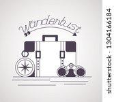 wanderlust explore adventure... | Shutterstock .eps vector #1304166184