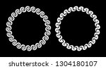 pair of white decorative round... | Shutterstock .eps vector #1304180107