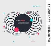 memphis style geometric pattern ... | Shutterstock .eps vector #1304180431