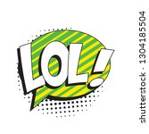 abbreviation lol  laugh out... | Shutterstock .eps vector #1304185504