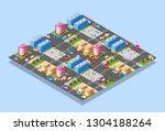 isometric illustration... | Shutterstock .eps vector #1304188264
