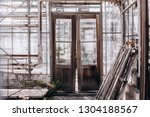 Abandoned Old Greenhouse. Old...