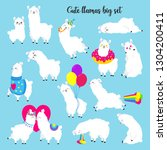 collection of cute vector...   Shutterstock .eps vector #1304200411