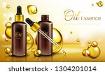 vector 3d realistic ad poster ... | Shutterstock .eps vector #1304201014