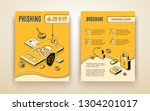 vector brochure template with... | Shutterstock .eps vector #1304201017