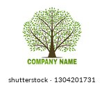 tree vector icon. logo design... | Shutterstock .eps vector #1304201731