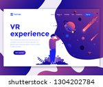 landing page template of vr... | Shutterstock .eps vector #1304202784