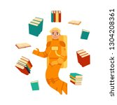 cartoon research and... | Shutterstock . vector #1304208361