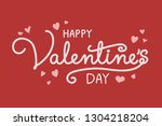 valentine's day   concept of a... | Shutterstock .eps vector #1304218204