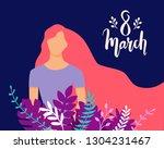 vector happy 8 march... | Shutterstock .eps vector #1304231467