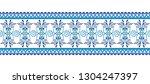 ceramic tile border pattern.... | Shutterstock .eps vector #1304247397