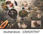 wonderfully designed dining... | Shutterstock . vector #1304247547