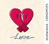 love heart shape sketch style... | Shutterstock .eps vector #1304249191