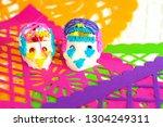 traditional sugar skull on... | Shutterstock . vector #1304249311