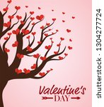happy valentines day | Shutterstock .eps vector #1304277724