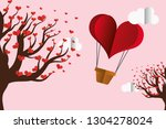 happy valentines day | Shutterstock .eps vector #1304278024