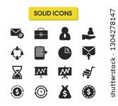 trade icons set with moneybag ...