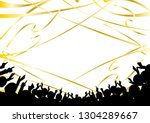 crowd of people and popping the ... | Shutterstock .eps vector #1304289667