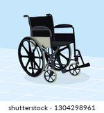 hospital black wheelchair   Shutterstock .eps vector #1304298961