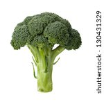 broccoli isolated on a clean... | Shutterstock . vector #130431329