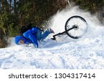 extreme cyclist falling down... | Shutterstock . vector #1304317414