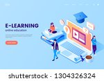 online education vector... | Shutterstock .eps vector #1304326324