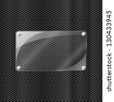illustration of glass on metal | Shutterstock . vector #130433945