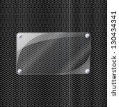 illustration of glass on metal... | Shutterstock .eps vector #130434341