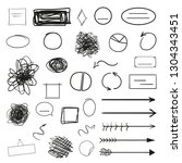 infographic elements isolated... | Shutterstock . vector #1304343451