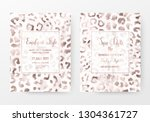 leopard print invitation cards... | Shutterstock .eps vector #1304361727