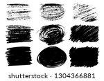vector set of hand drawn brush... | Shutterstock .eps vector #1304366881