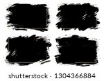 vector set of big hand drawn... | Shutterstock .eps vector #1304366884