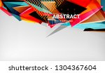 3d geometric triangular shapes... | Shutterstock .eps vector #1304367604