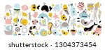 vector huge set of illustration ... | Shutterstock .eps vector #1304373454