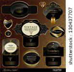 retro black gold label can be...   Shutterstock .eps vector #130437707