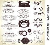 calligraphic design elements... | Shutterstock .eps vector #130438025