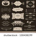calligraphic design elements ...   Shutterstock .eps vector #130438199