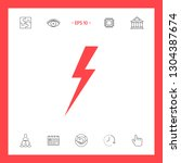 thunderstorm lightning icon.... | Shutterstock .eps vector #1304387674