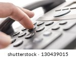 detail of using a telephone... | Shutterstock . vector #130439015