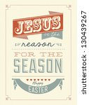 happy easter typographical... | Shutterstock .eps vector #130439267