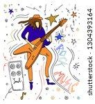 vector illustration. rock... | Shutterstock .eps vector #1304393164
