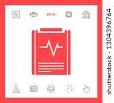 electrocardiogram symbol icon.... | Shutterstock .eps vector #1304396764