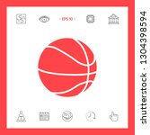 basketball ball icon. graphic... | Shutterstock .eps vector #1304398594